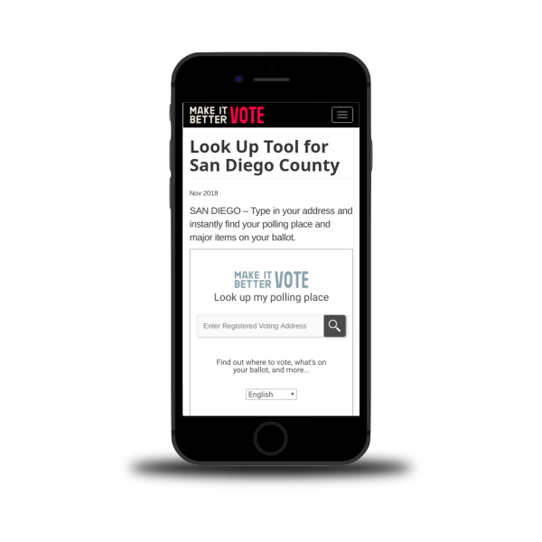 Make It Better. Vote! Voter Info Lookup Tool