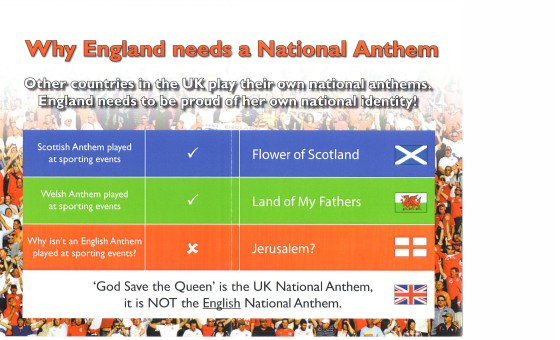Do we need an English National Anthem?