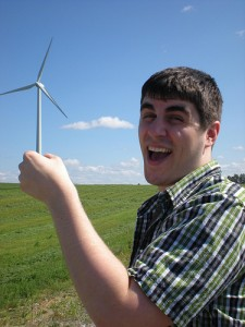 Dude with wind turbine