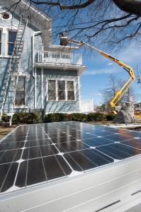 Solar panel awaiting installation.