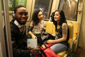Young people on DC Metro