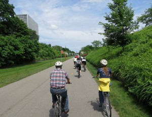 Biking Dequindre Cut