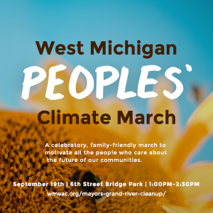 West Michigan climate march flyer