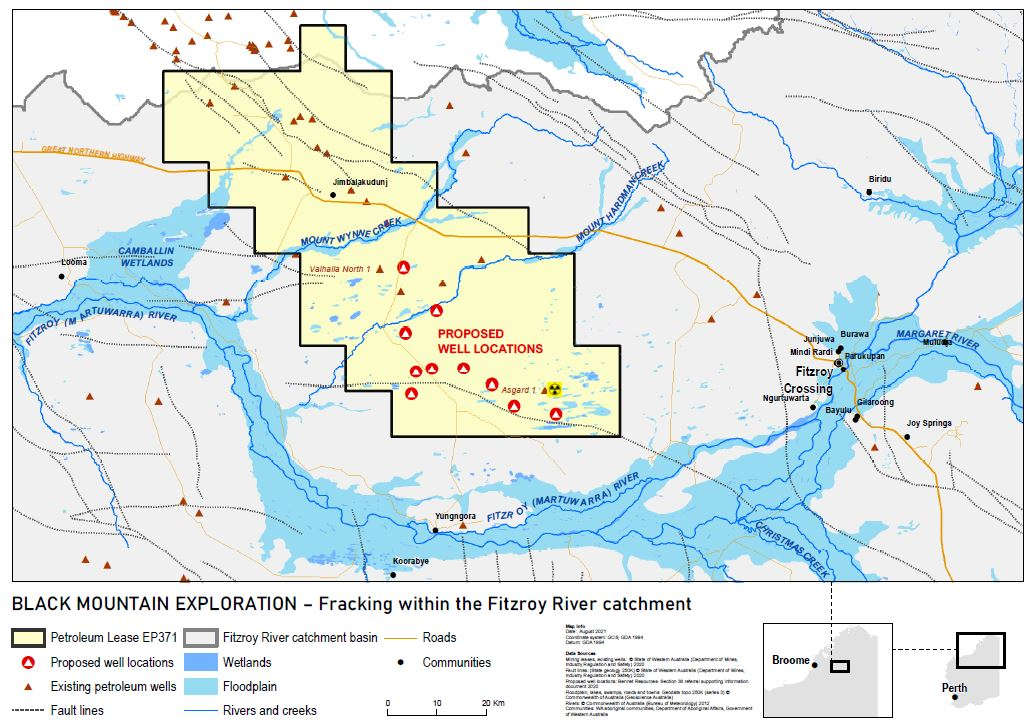 Proposed fracking wells