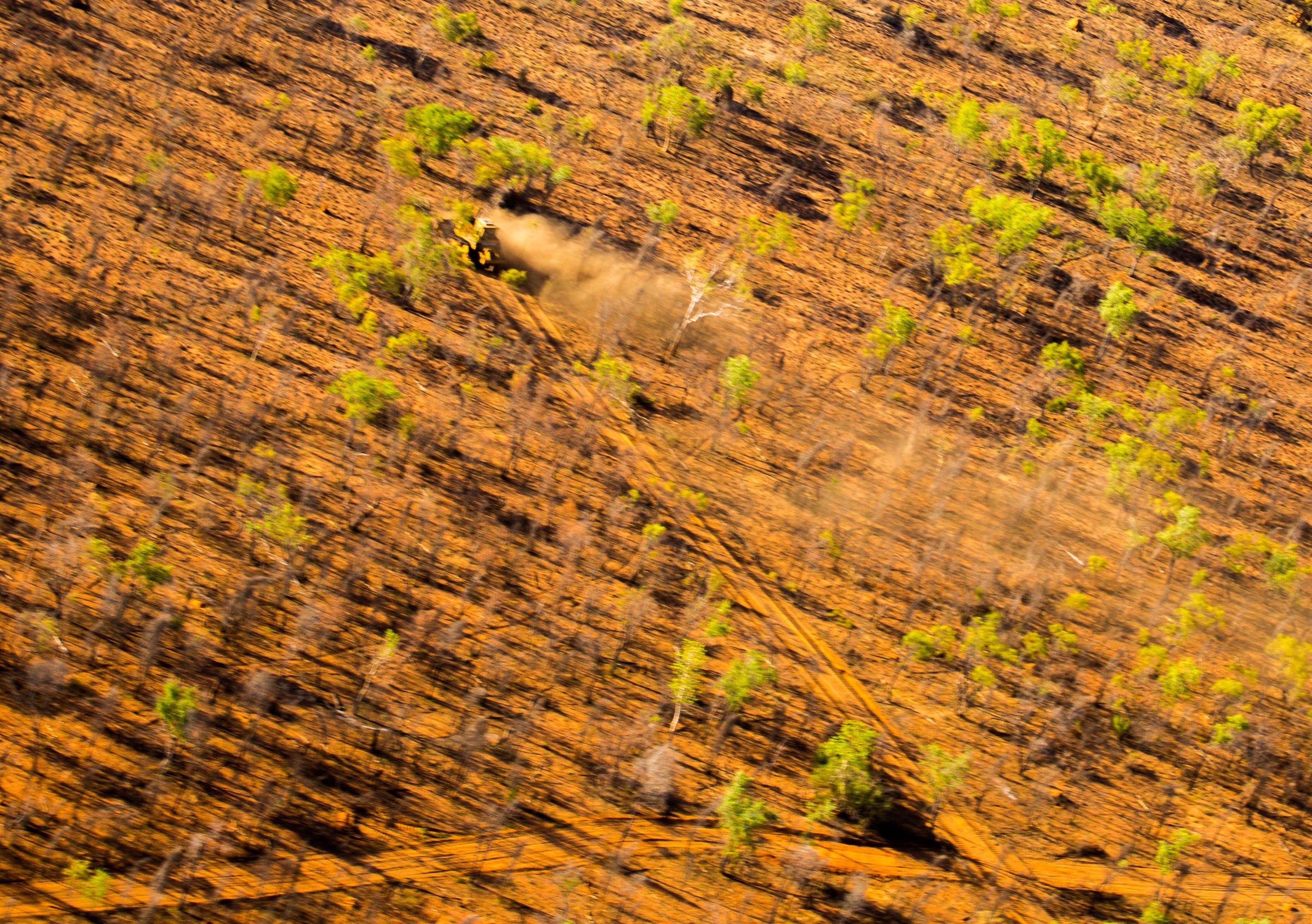 Buru Energy bulldozer on Roebuck Plain