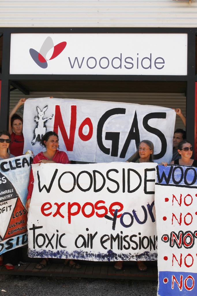 Woodside protests
