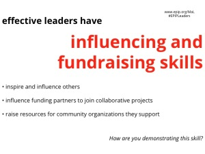 Influencing & fundraising text