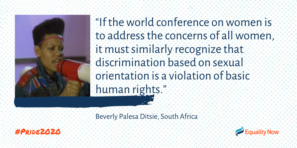 Beverly Palesa Ditsie, South African lesbian activist quote