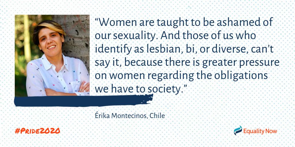 Erika Montecinos, Chilean lesbian activists quote