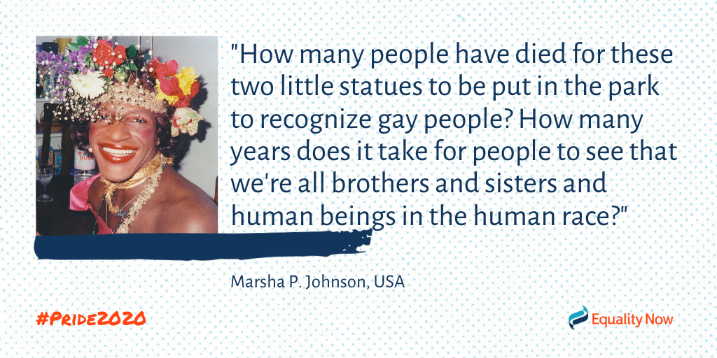 Marsha P. Johnson, American trans activist quote