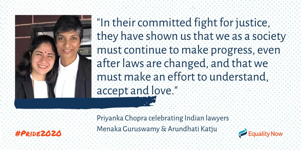 Menaka Guruswamy and Arundhati Katju, Indian lesbian advocates quote