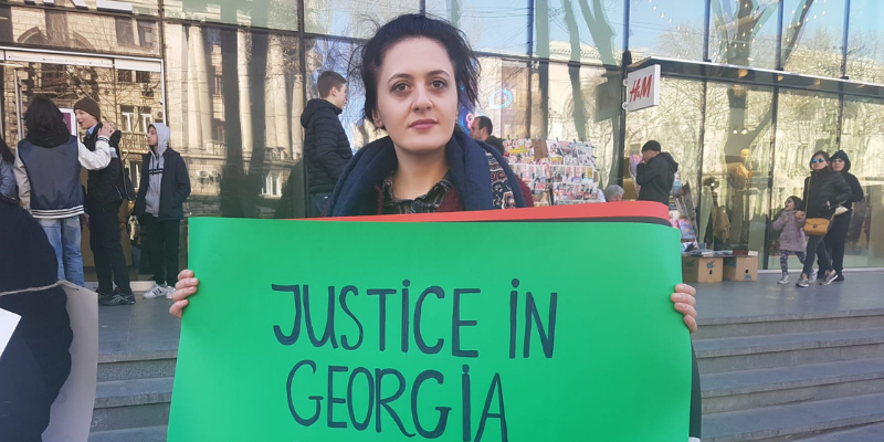 IWD Protest in Tbilisi, Georgia 2019 - Credit Equality Now