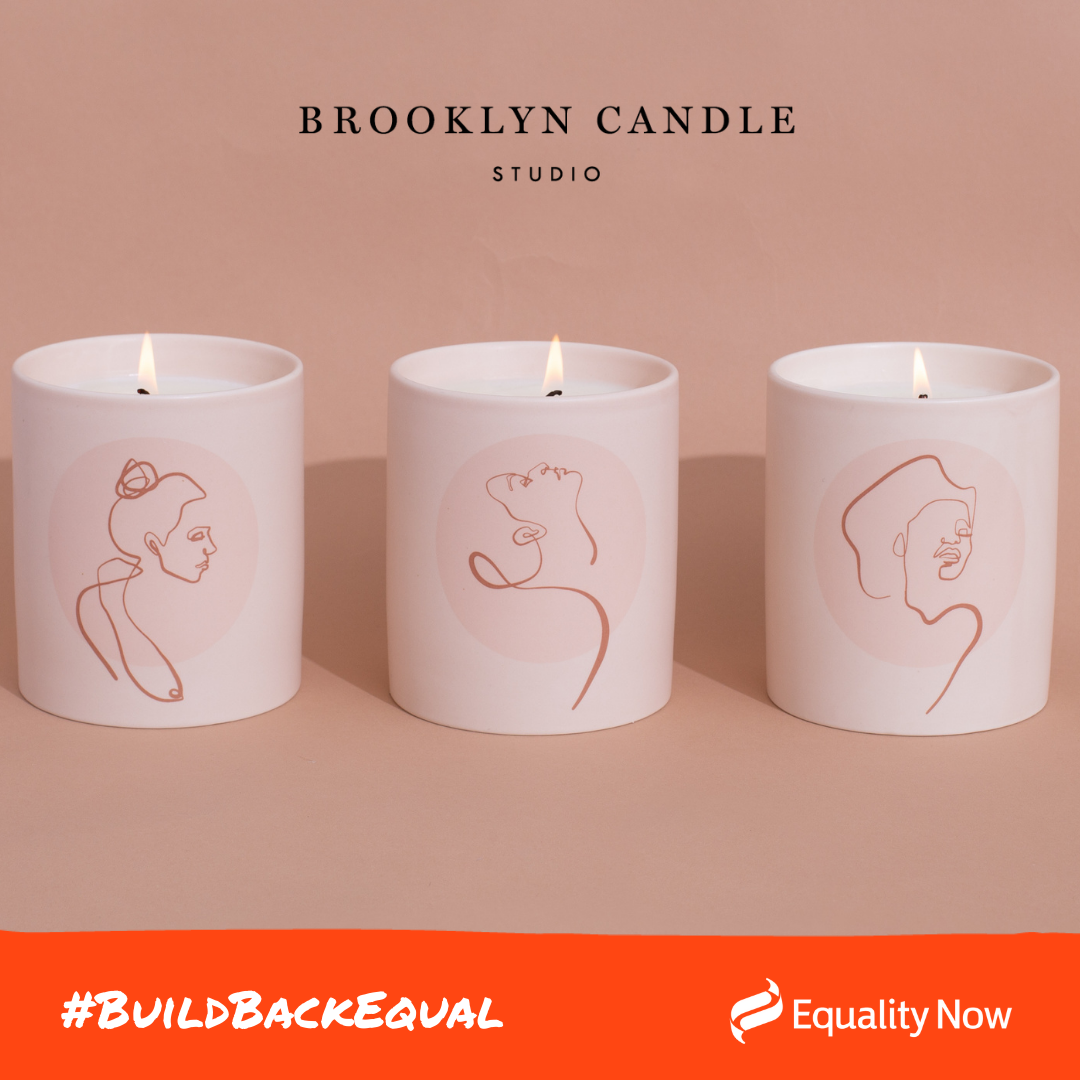 Photograph of three candles