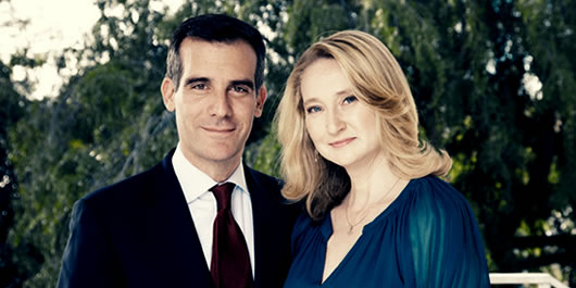 Eric and Amy Garcetti