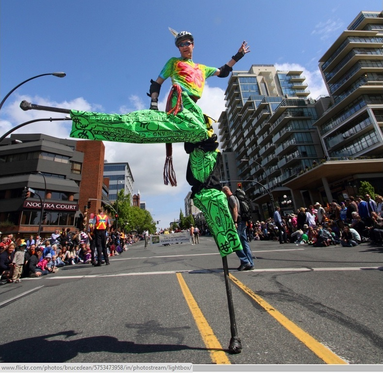 Eric performing in the Victoria Day parade, 2012; Municipal, Election, 2014, Arts