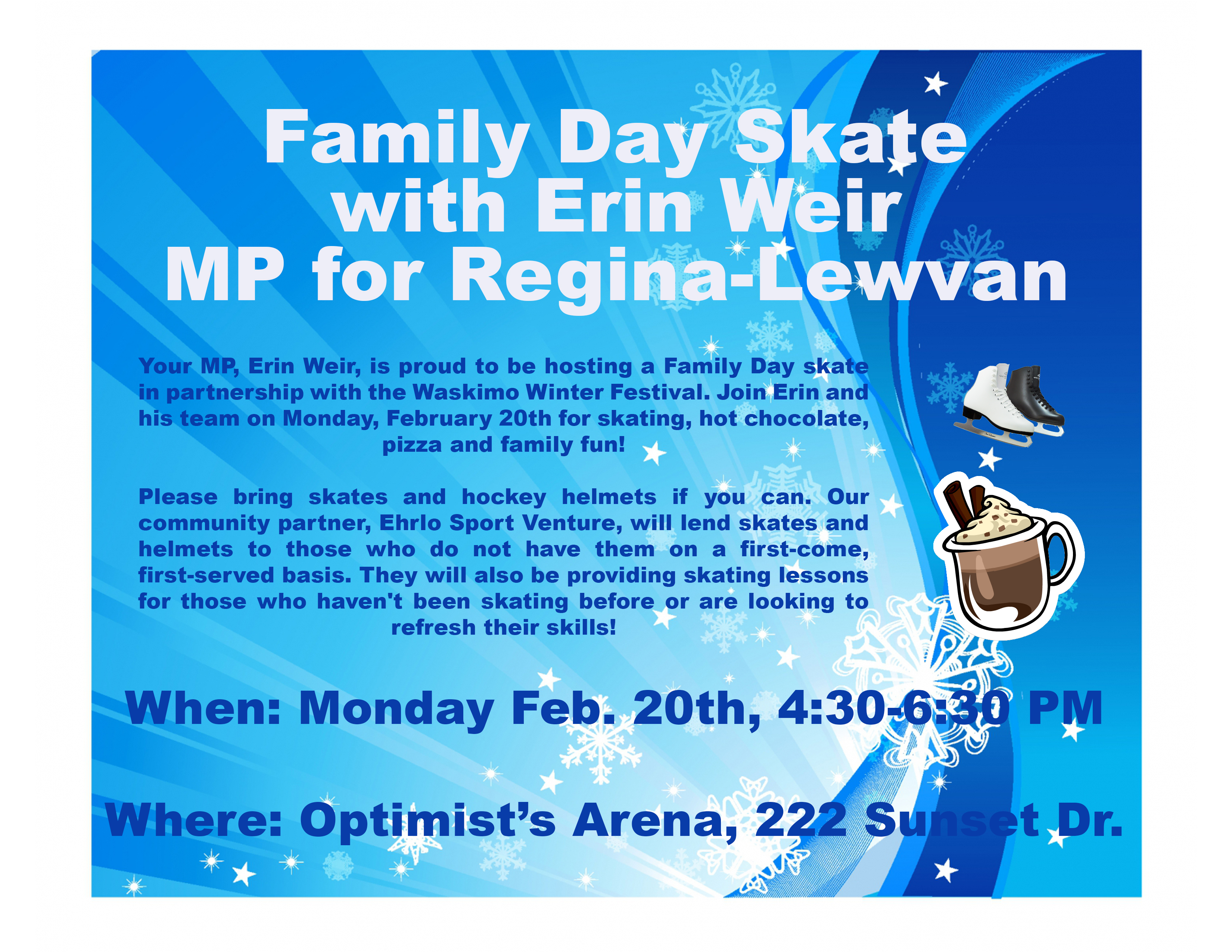 family day skate erin weir com