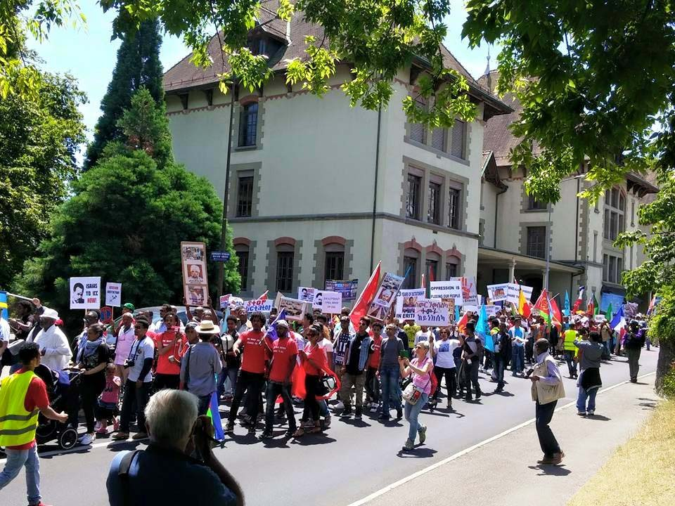 Eritreans hold giant human rights protest Geneva
