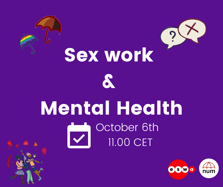 EVENT ON SEX WORK AND MENTAL HEALTH - 6TH OF OCTOBER