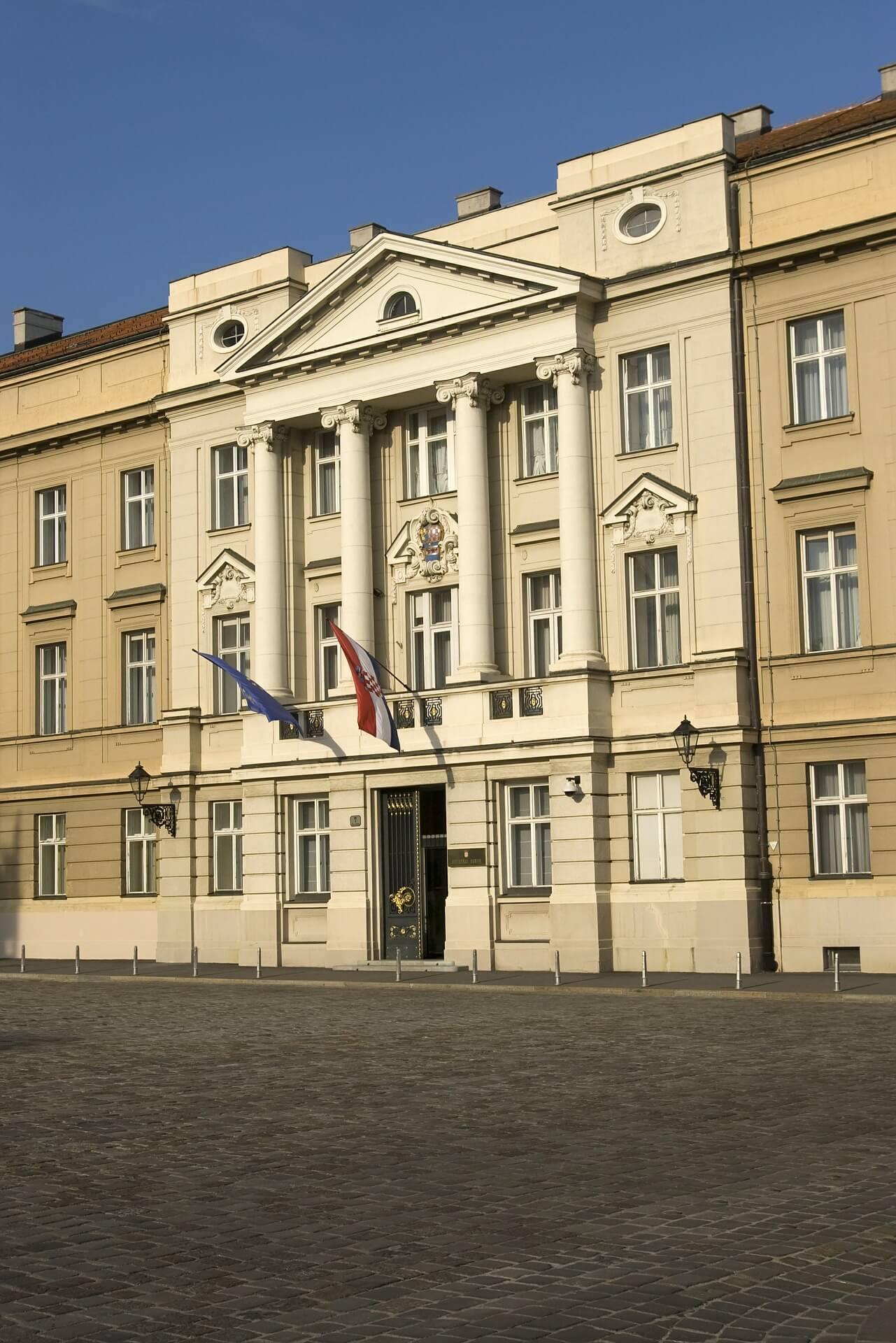 The Croatian Parliament in Zagreb.