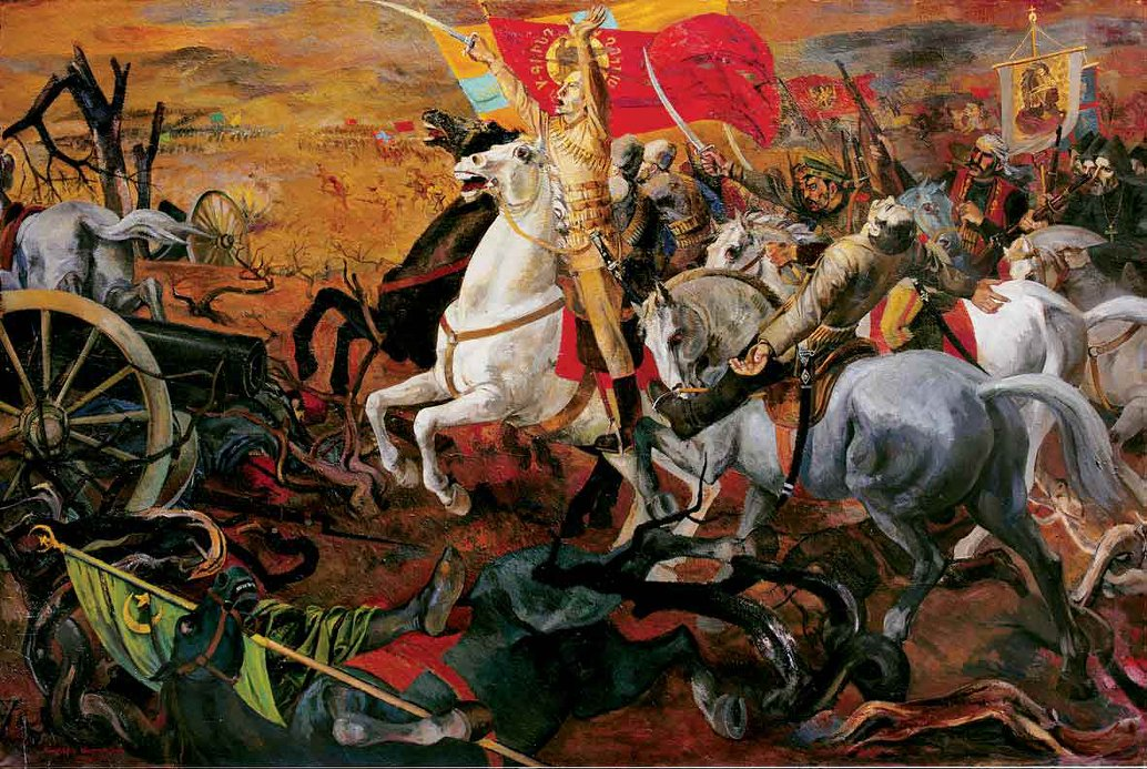 "Photo: ""The Battle of Sardarabad"", oil-painting by Sargis Muradyan."