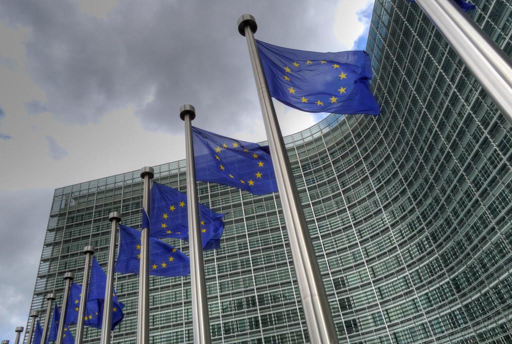 EU flags fly outside the Berlaymont