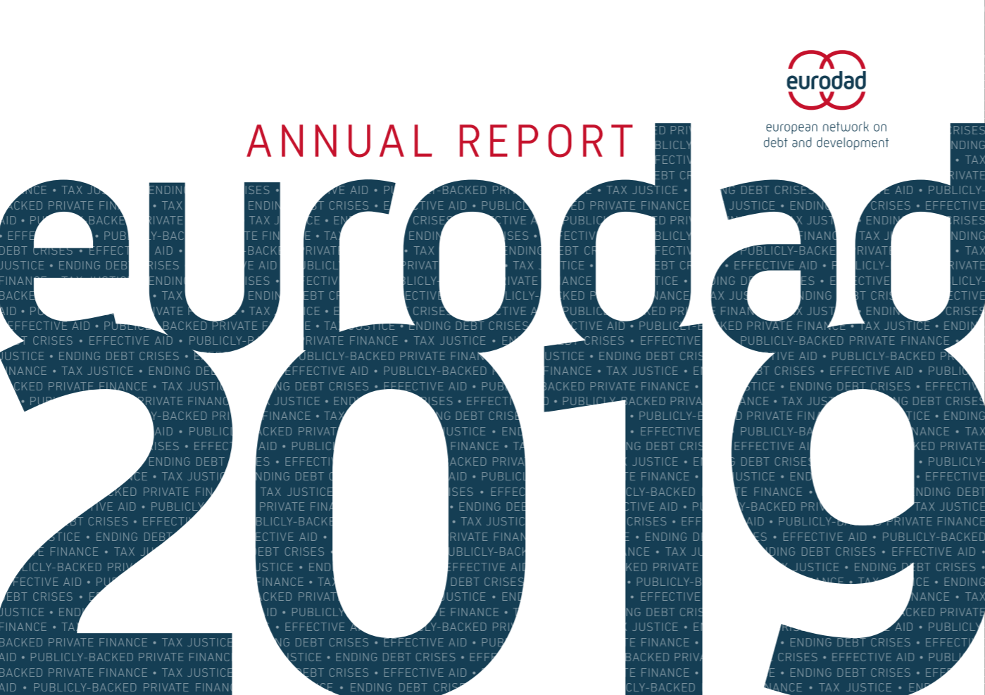 Eurodad Annual Report 2019 front cover