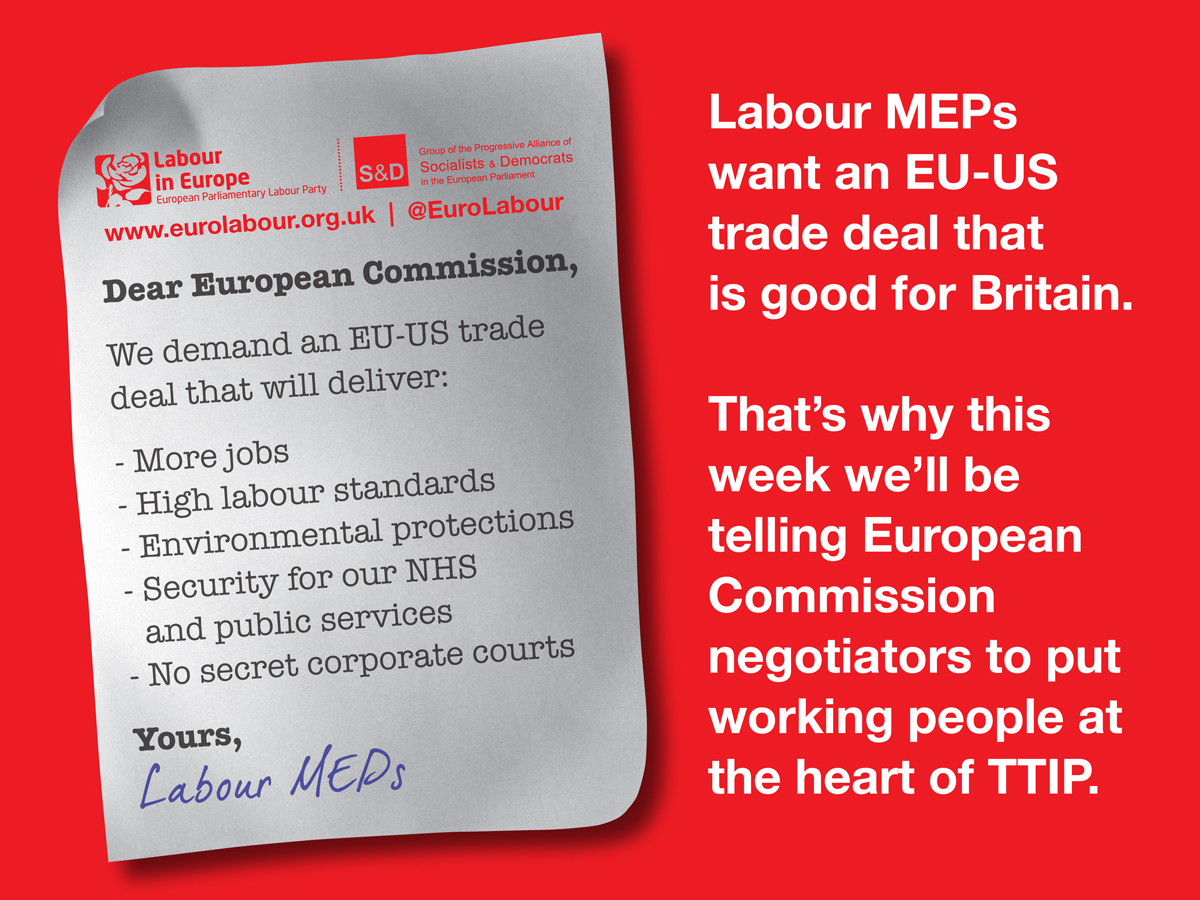 Labour MEPs want an EU-US trade deal that is good for Britain