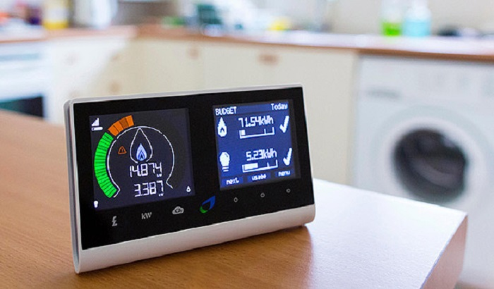 smart energy meter A smart meter is an electronic device that as a minimum records consumption of electric energy in intervals of an hour or less and communicates that information at least daily back to the utility for monitoring and billing.