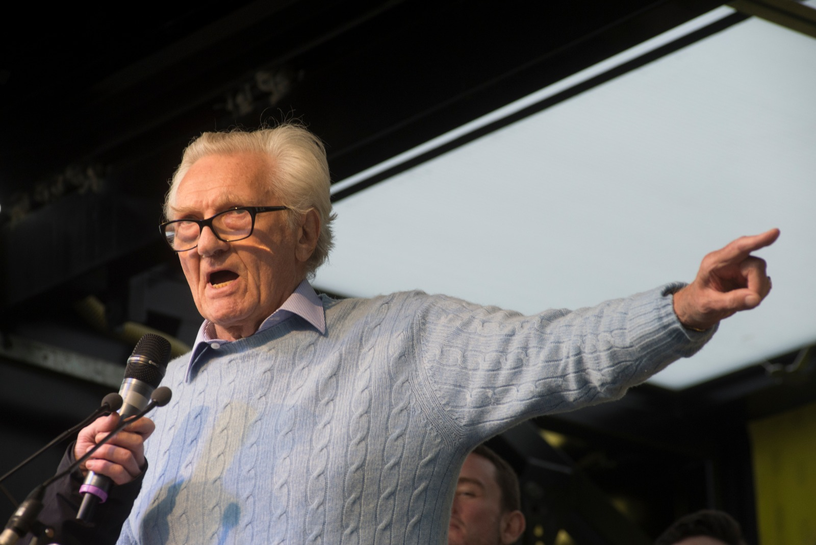 Heseltine at Rally