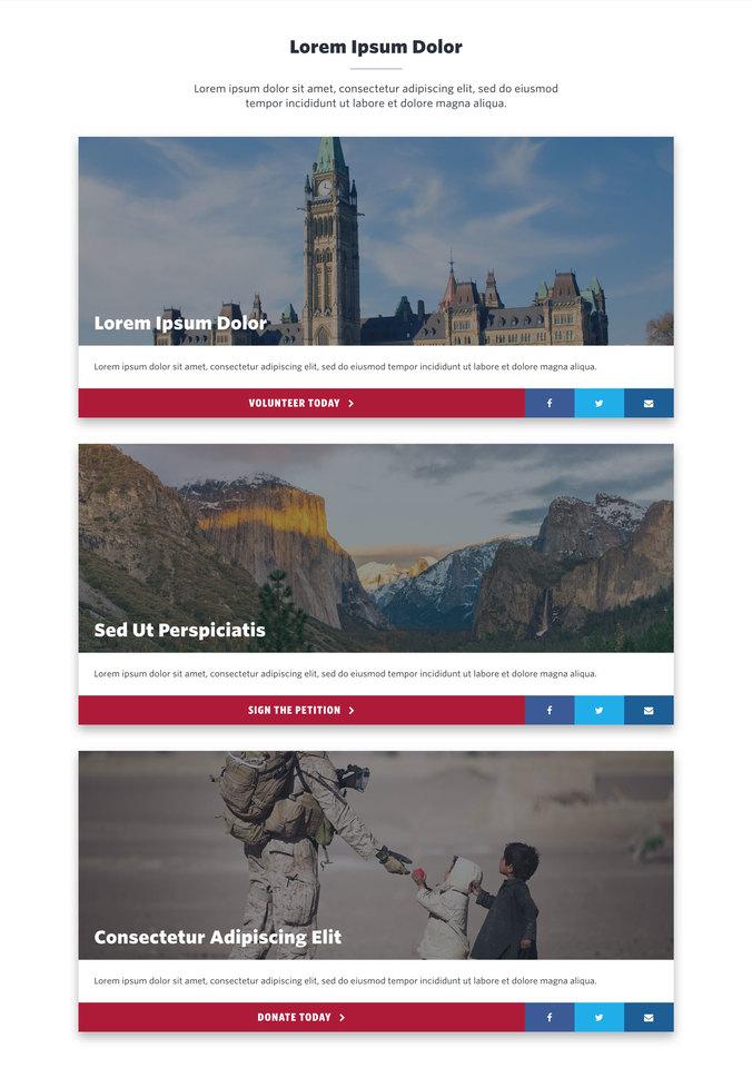 NationBuilder Content Block Module: Big Cards