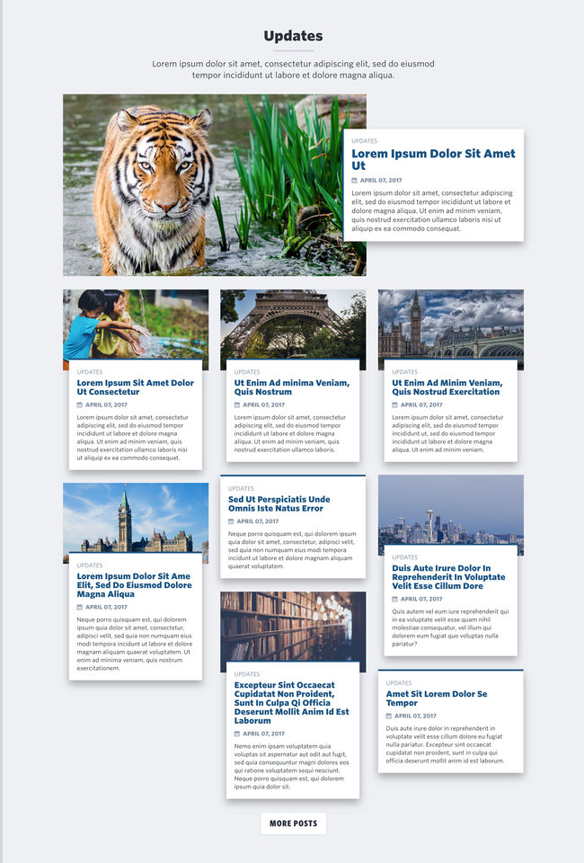 NationBuilder Content Block Module: Blog Post Cards with Featured