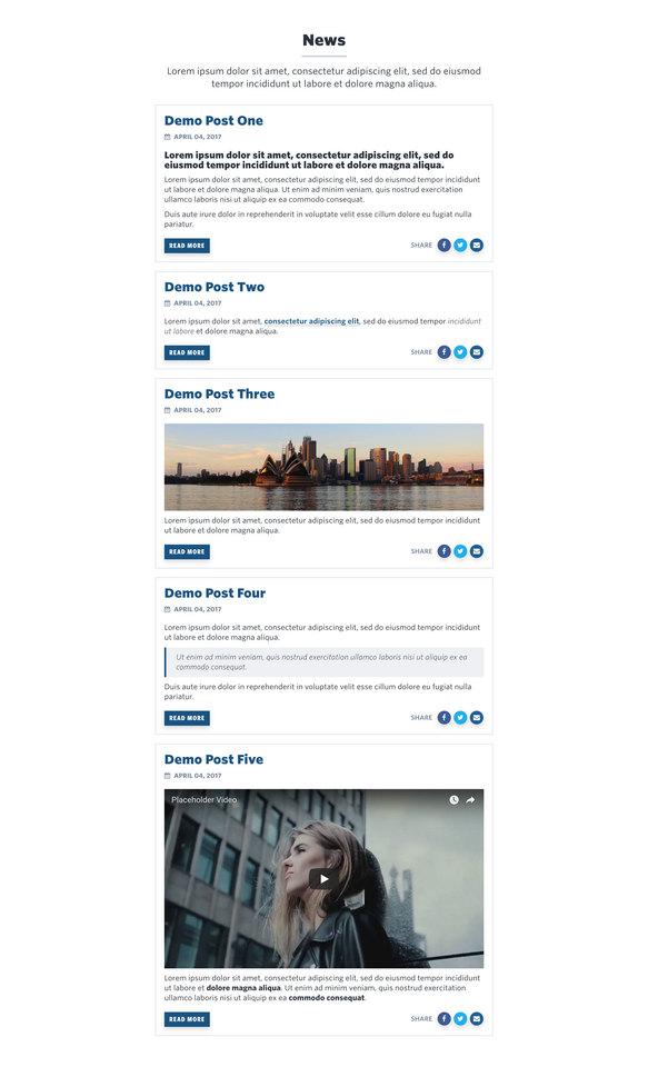 NationBuilder Content Block Module: Blog Post Excerpts