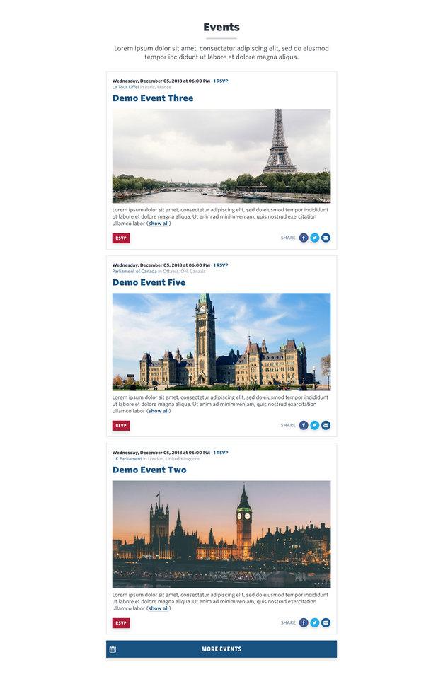 NationBuilder Content Block Module: Events Excerpts