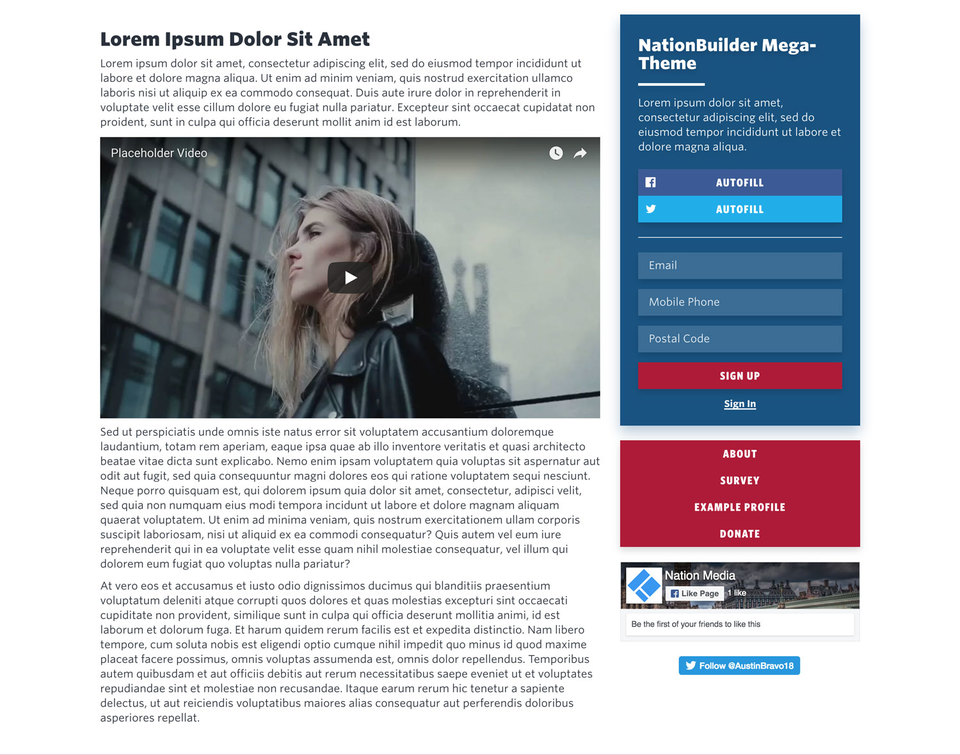 NationBuilder Content Block Module: Content with Sidebar