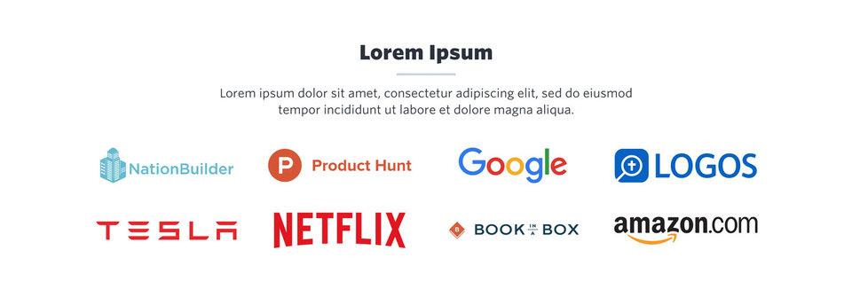 NationBuilder Content Block Module: Logos Color
