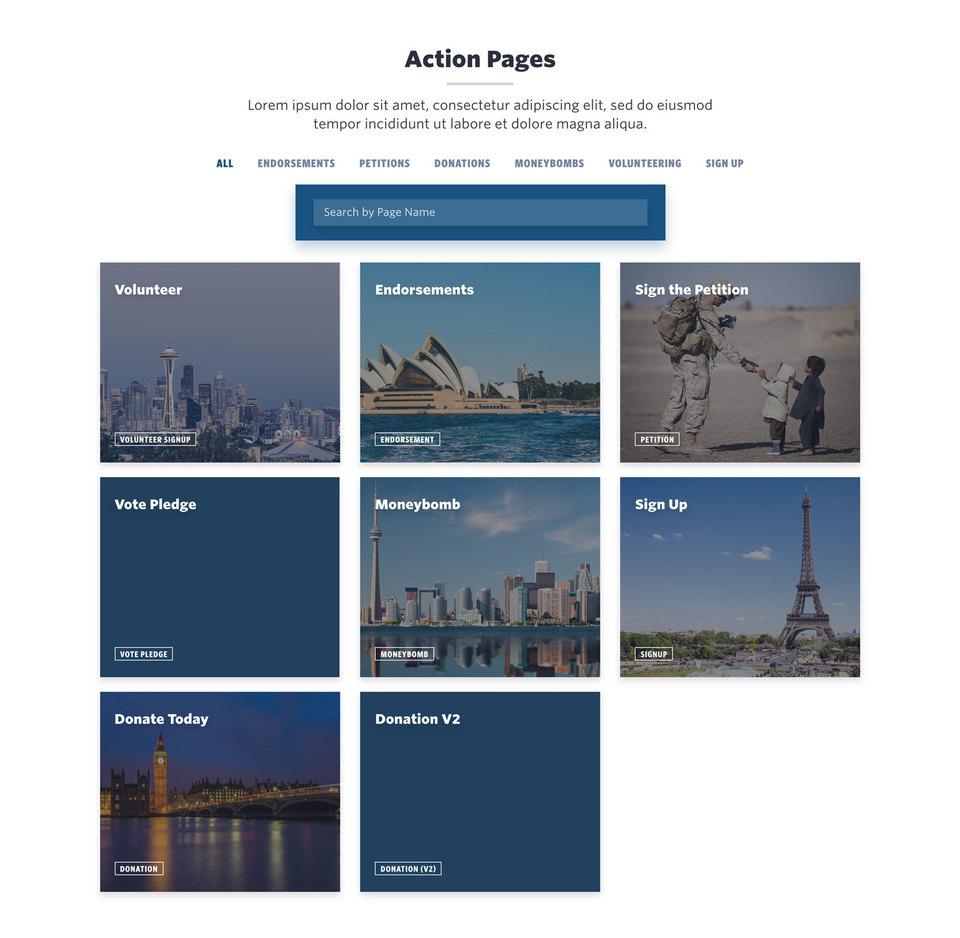 NationBuilder Content Block Module: Mixitup