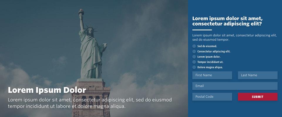 NationBuilder Content Block Module: Image with Survey