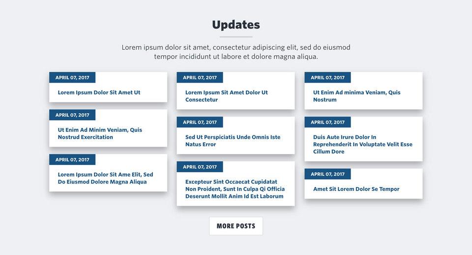 NationBuilder Content Block Module: Small Blog Post Cards