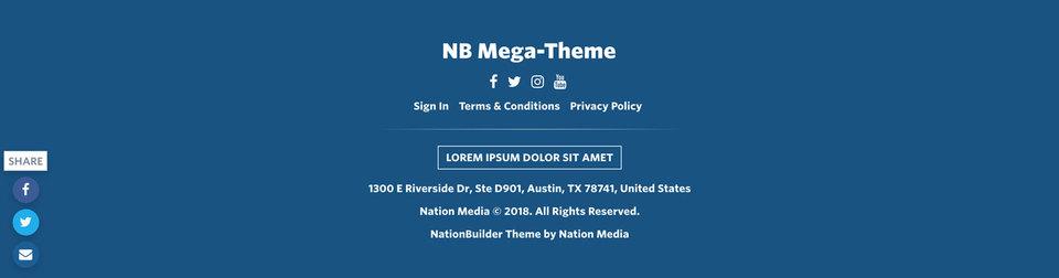 NationBuilder Content Block Module: Footer Primary Dark