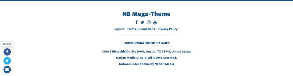 NationBuilder Content Block Module: Footer Primary Light