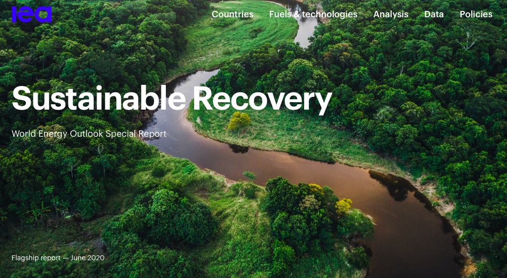 IEA Special Report on Sustainable Recovery cover