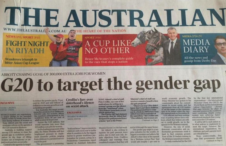 G20 to target the gender gap