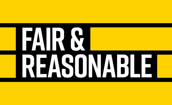 Fair and Reasonable