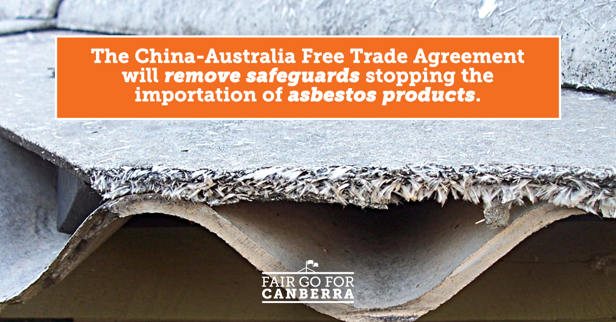 China FTA will Remove Asbestos Safeguards