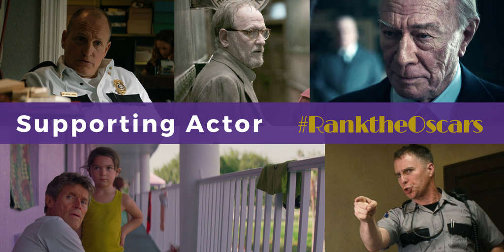 """Oscar's """"Supporting Actor"""" honor will go to one of five veteran actors"""