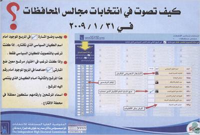 March 2010 parliamentary elections - Ballot Sample