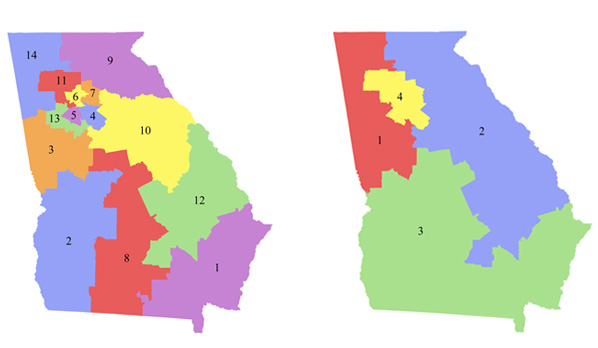 Map Of Georgia Voting Districts.No More Gerrymanders Georgia S Partisan Plan Versus The