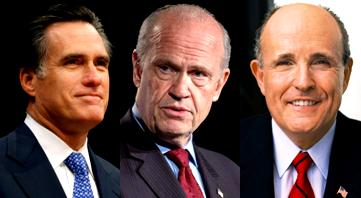 Republicans in 2008:  Romney, Thompson, and Giuliani