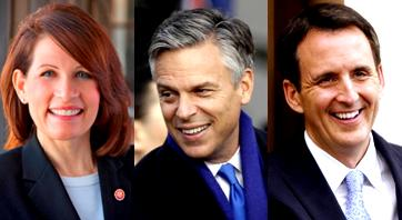 Republicans in 2012:  Bachmann, Huntsman, and Pawlenty