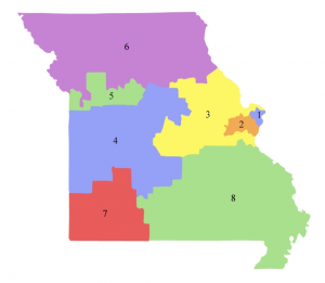 No More Gerrymanders Missouris Partisan Plan Versus The Fair - Missouri us congressional district map